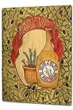 Cartel Letrero de Chapa XXL Cocina aceite de oliva romero