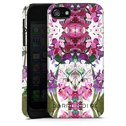 Apple iPhone X Silikon Hülle Case Schutzhülle Blumen Blumenmuster Muster Tough Case matt