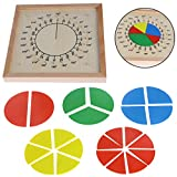 Dabixx Baby Education Toys Montessori Mathematics Counting Material Wooden Circular Fractions Scoreboard Kid Educational Toy