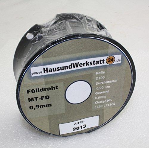 Preisvergleich Produktbild WELDINGER Fülldraht D100 0,9 mm 1 kg (MIG/MAG-Schweißdraht NoGas)