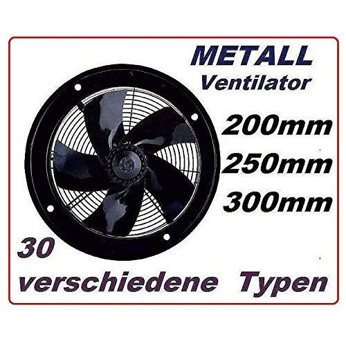 250mm Ventilador Industrial Ventilación 1800m³/h Extractor Ventiladores ventiladore industriales Axial axiales extractores...