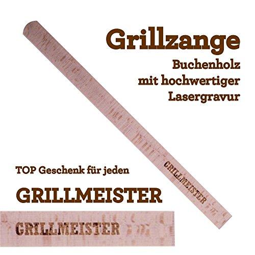 Grillzange Aus Holz Mit Hochwertiger Gravur Grillmeister