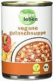 vegan leben Bio vegetarische Gulaschsuppe, 6er Pack (6 x 380 ml)