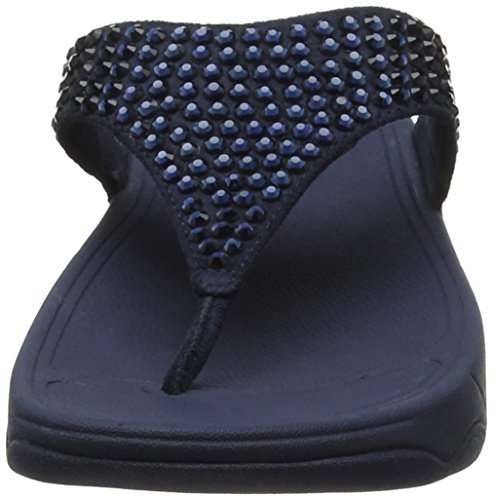 FitFlop Glitzie Toe-Thong, Sandales Bout Ouvert Femme Blue (Midnight Navy)