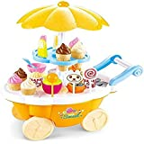 MAGNIFICO Sweet Shop Trolley Kitchen Cart Luxury Battery Operated With Music & LED Lights Ice Cream Trolley Shop Set For Kids Pretend Roll Play Sweet Cart Real Toy Play Set Learning & Educational Toys Set Birthday Gift Option For Girls & Boys