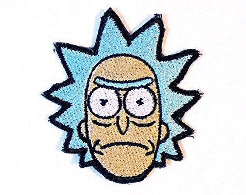 Rick & Morty Patch vollständig aufgesticktem Eisen/Nähen auf Badge DIY Aufnäher Souvenir Kostüm (Rick Sanchez Rick Und Morty Kostüm)