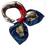 Goldenlight Damen Schal Tuch Nickituch Satin Silk Formal Square Halstuch Kopf Haar Wraps 50x50cm (#2)