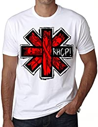 RHCP Red Hot Chili Peppers T-shirt,cadeau,Homme,Blanc,t shirt homme