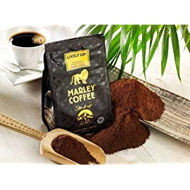 Marley Coffee Lively Up Espresso Roast Whole Bean Coffee 51rodJhhAkL