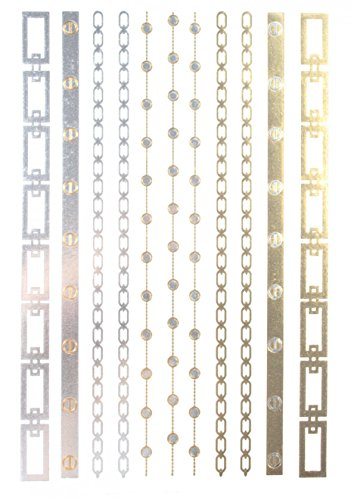 ggsell-ggsell-metallic-temporary-tattoos-golden-gold-silver-black-jewelry-design-fashion-fake-tattoo