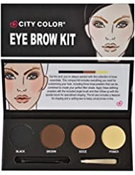 City Color Eye Brow Eyebrow Powder Kit Wax Primer Tweezers Shaper Brush Gift Set by HCL