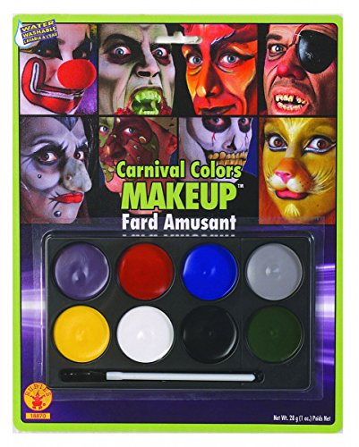 Clown Farbpalette (Carneval Make Up Kit)