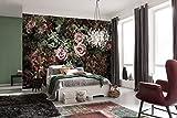 Komar 8-980368x 254cm en velours Motif fleurs'Papier peint-rose (Lot de 8)