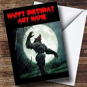 Loup-garou Carte d'anniversaire personnalisée