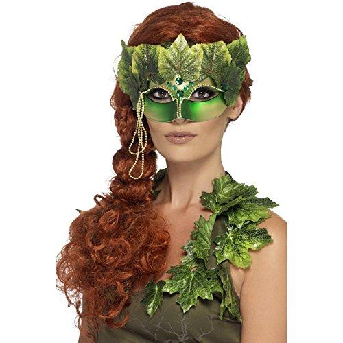 Smiffy 's 43748–Wald Nymphe eye-mask mit Stoff Blätter und Schmuck, (Maske Gala Erwachsene Für)