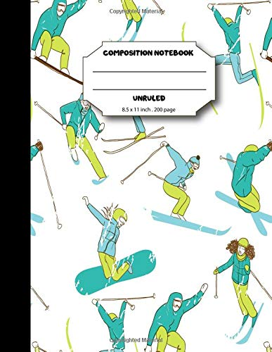 Composition notebook unruled: Ski cover sketchbook for writing notes and journal por BB Book'n Library