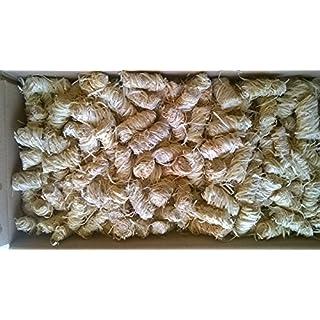 Amafino 10 kg Bio-Anzünder Holzwolle und Wachs für Kamin, Ofen BBQ und Grill