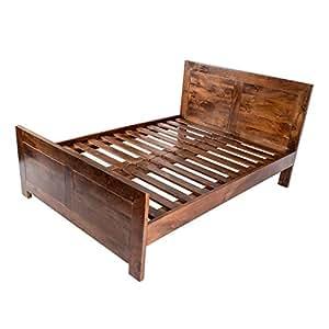 homescapes dakota super king size bett dark 100. Black Bedroom Furniture Sets. Home Design Ideas