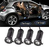 4 Stück Auto LED Tür Courtesy Logo Licht Schatten Laser Projektor LED Willkommen Licht, 2. Generation