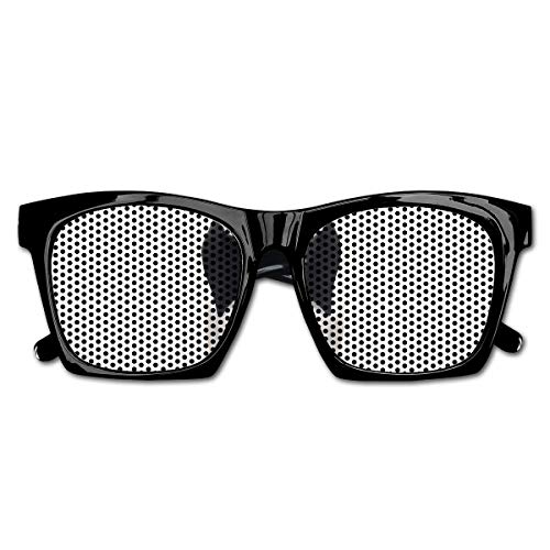 EELKKO Mesh Sunglasses Sports Polarized, Cool Looking Dog Tie and Big Fancy Black Sunglasses Funny Canine Animal Comedy Image,Fun Props Party Favors Gift Unisex