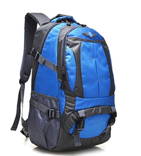 Bulage Borse Zaini Viaggi Studenti Delle Scuole Medie Spalle Borse Uomini E Donne All'aperto Sport Alpinismo Viaggi Computer Trekking Blue