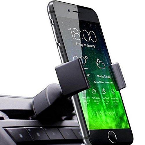 Nevter359 für iPhone Samsung Huawei Smartphone GPS Geräte Universal Handyhalter, Universal Auto CD Fahrzeug Air Vent Mount Antislip Telefon GPS Halter Ständer Tool - Schwarz Gps Air Vent Mount