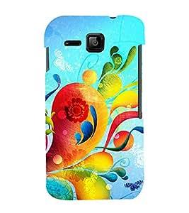 PrintVisa Floral Damask Pattern 3D Hard Polycarbonate Designer Back Case Cover for Micromax Bolt S301