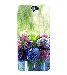 Colourful Flowers 3D Hard Polycarbonate Designer Back Case Cover for HTC One A9