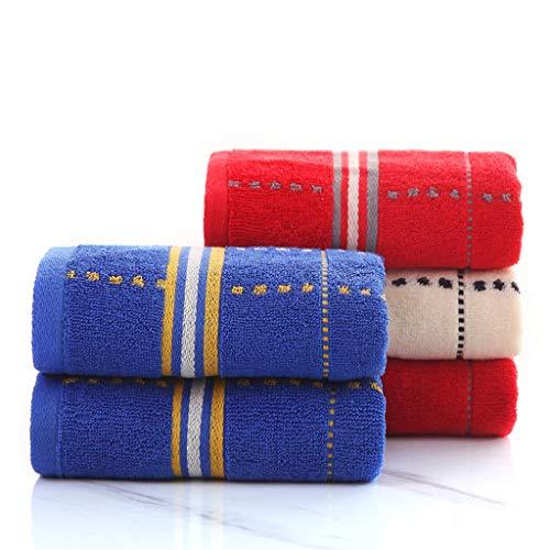 BNBO-L HWH Paar Baumwolle Handtuch, Haushalt Erwachsene Gesicht Handtuch Baumwolle Handtuch Weiche Wasseraufnahme Verdicken Handtuch 5 stücke Saugfähige Handtücher (Farbe : A)