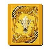 CafePress–Beutelwolf–rutschfeste Gummi Mauspad, Gaming Maus Pad