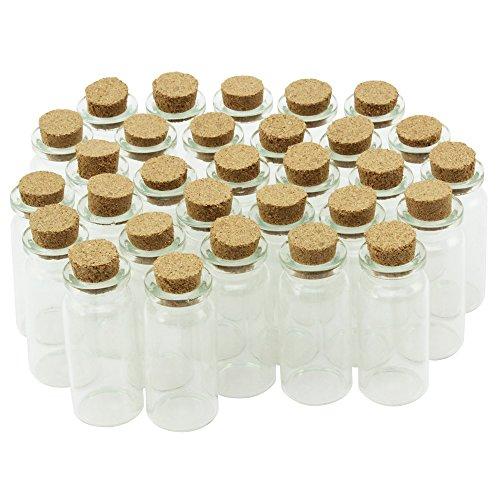 Com-Four ® Mini flacon en verre avec bouchon en liège, pour huiles ou épices, env. 10ml 30 Stück