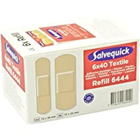 Salvequick Pflasterspender und refill - verschiedene Sorten (Karton á 6 refills, rot (textile) - Ref. 6444) preisvergleich bei billige-tabletten.eu