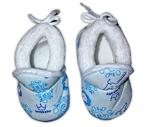 Baby Station Booties Winter Warm Girl Boys Shoes First Walker Training Shoes (0-6 M) (Blue)  available at amazon for Rs.275