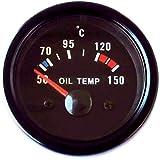 Indicador temperatura aceite 52mm Retro Oldschool Instrumento adicional Temperatura del aceite universal