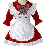 tzm2016 Women's Lolita Dress French Maid Costumes Anime Cosplay party Costumes Cute School Uniform ( red£Size L )