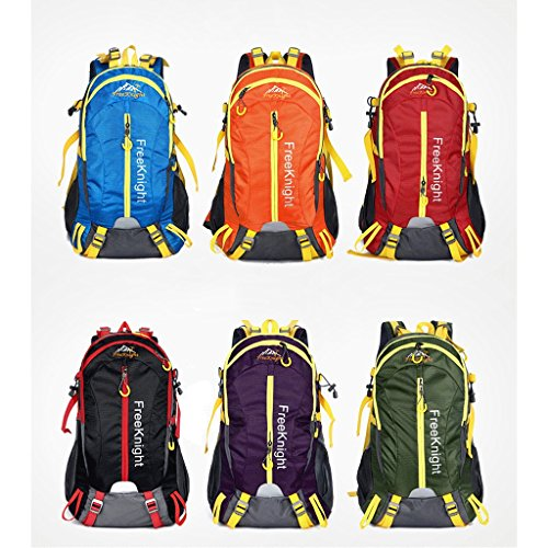 Il nuovo modo impermeabile borsa sportiva per il tempo libero all'aperto 40L dello zaino di alpinismo Ultralight arancione