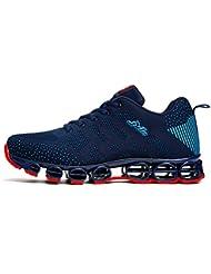 Chaussure de sport homme sneakers textile course entraînement running antichoc antidérapant