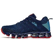 cheaper 209a6 1a177 Chaussure de Sport Homme Sneakers Textile Course entraînement Running  Antichoc antidérapant (Recommandez la Taille Un