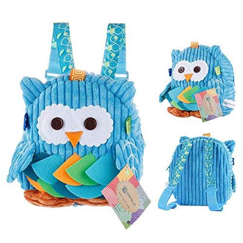 (Luimode Babyrucksack Kindergartenrucksack Kinder Rucksack Backpack Schultasche für 2-7Jahre Mädchen Jungen,für Schule,Tier auswahlbar (Eule Blau))