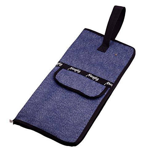 mugig sacchetto custodia per bacchette batteria Astuccio imbottito impermeabile con tasca esterna Maniglia di trasporto (Blu Sacchetto Di Trasporto)