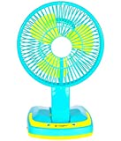 JY SUPER 5590 Powerful Rechargeable Fan with 21SMD LED lights(Assorted Color).