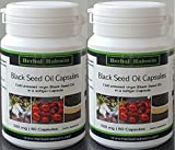 Black Seed Oil Capsules 2 x 60 x 500mg (Made in Germany) - Nigella Sativa