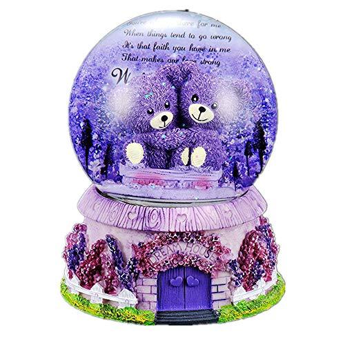 Warm heart crystal ball music box, regali di compleanno per bambini, amici, compagni di classe, amanti, ornamenti di sfere di cristallo, accessori desktop