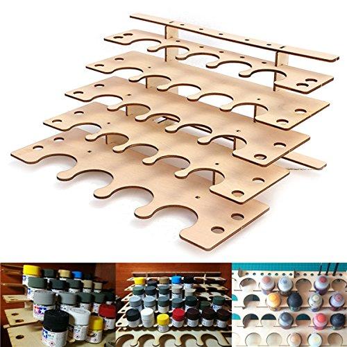 Tutoy 24 Töpfe Holz Acryl Farbe Ständer Flasche Lagerregal Halter Modulare Organizer