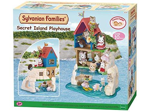 SYLVANIAN FAMILIES- Secret Island Playhouse Casa de Mini muñecas y Accesorios, (Epoch para Imaginar 5229)