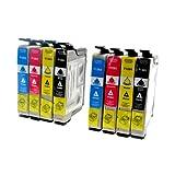 8 Tintenpatronen kompatibel zu Epson T1281 - T1284 für Epson Stylus Office BX 305 FW Plus S22 SX 125 235 425 435 - Schwarz je 14,5ml, Color je 11,5ml