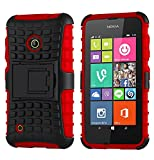 Cruzerlite SPI Force Dual Layer Case for Nokia Lumia 530 - Red (Retail Packaging)