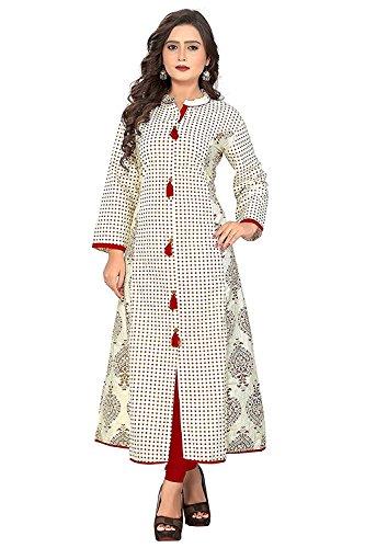 Navabi Export Women's Cotton Kurti (11134, Black, X-Large)
