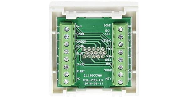 Simon K100B Plaque K45 9//1//2 avec Montage 1 Prise Vga Hd15 Femelle Connexion /à Vis