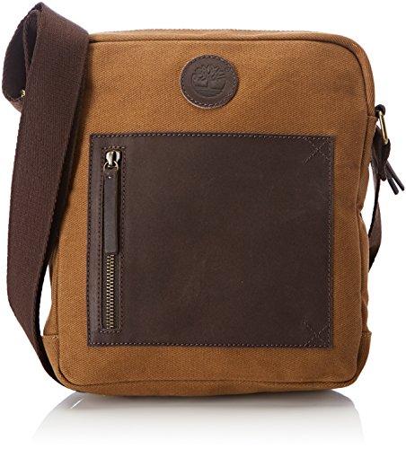 Timberland Herren Small Cross Body Bag Schultertasche, Beige (Tan), 5x26x24 Centimeters (Herren Timberland Schuhe Tan)